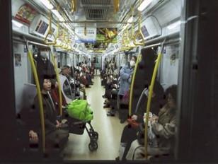 地下鉄銀座線車内風景